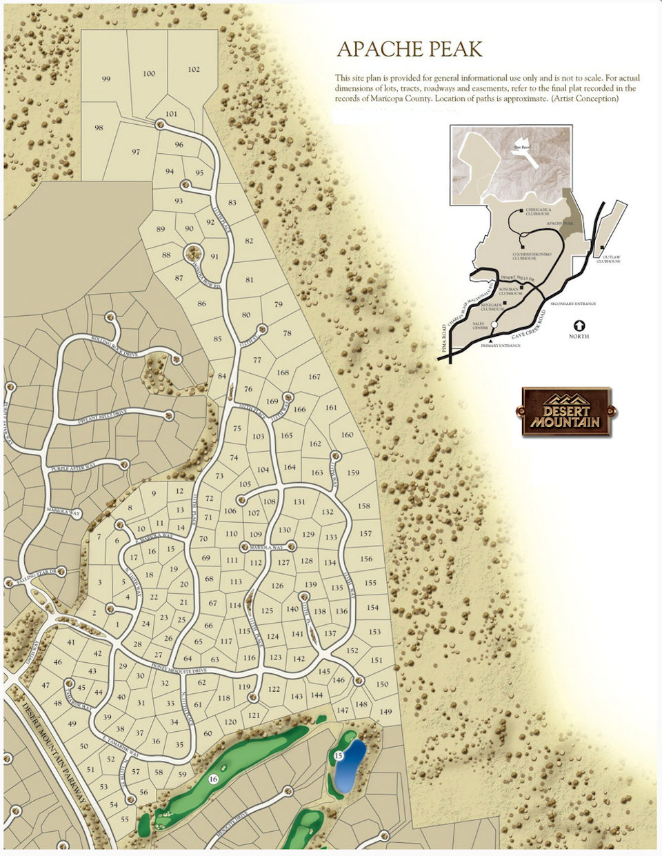 Apache Peak Map in Desert Mountain Scottsdale Arizona