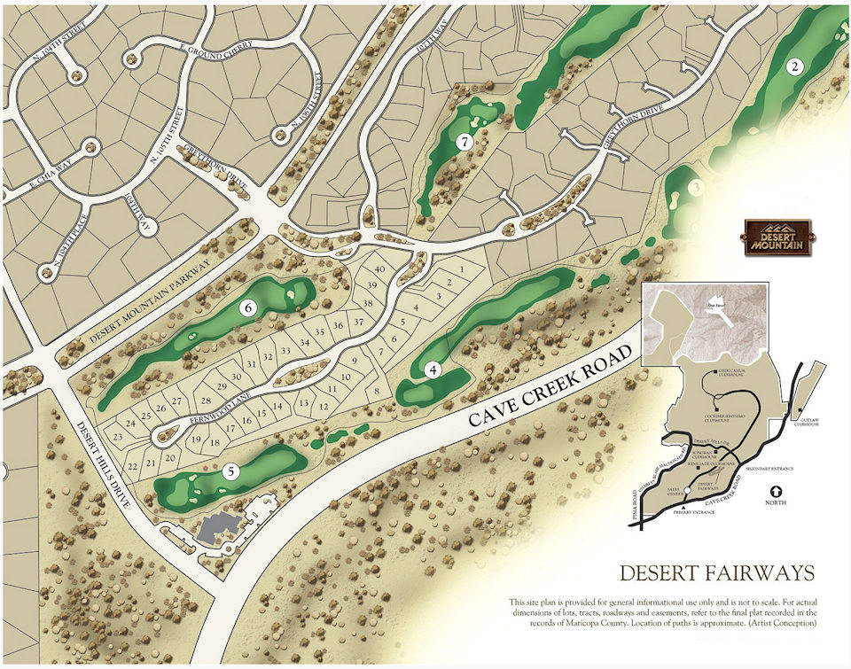 Desert Fairways Map in Desert Mountain Scottsdale Arizona