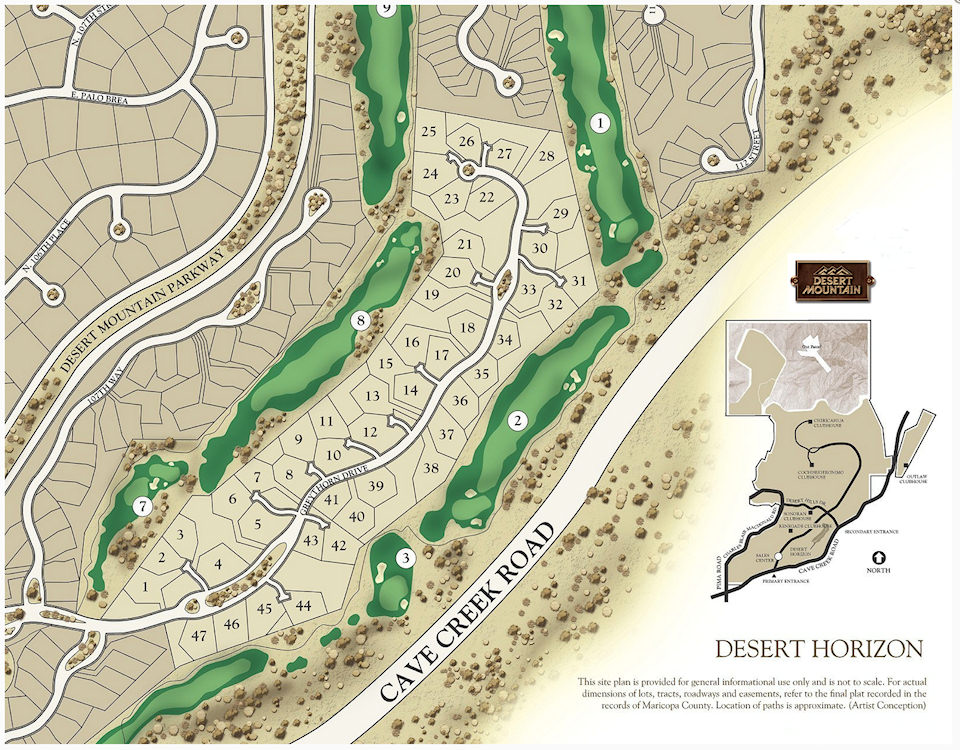 Desert Horizons Map in Desert Mountain Scottsdale Arizona