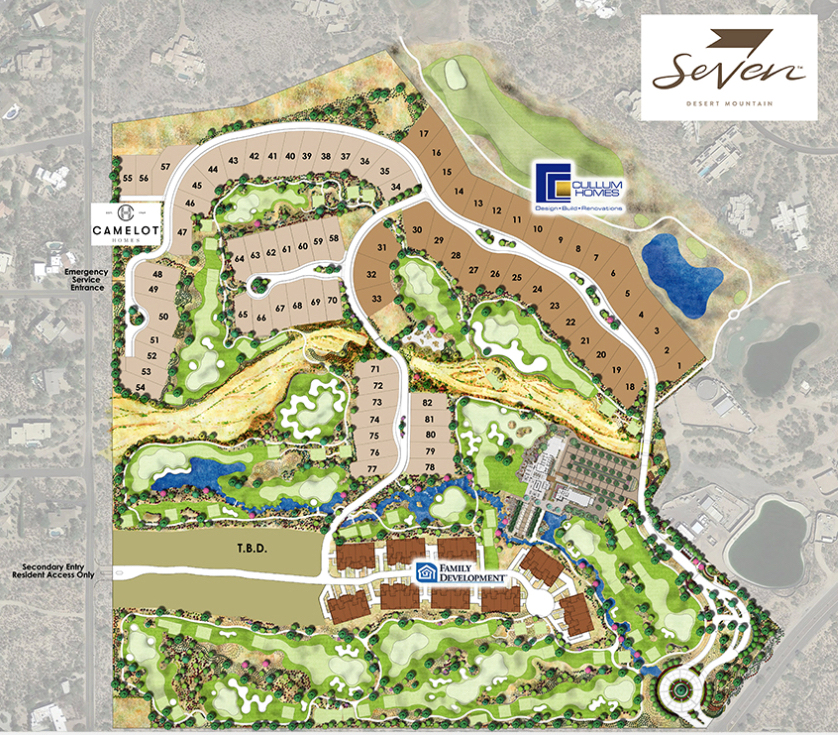 Seven at Desert Mountain Lot Plan
