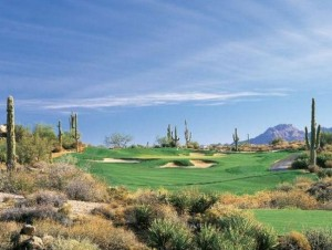 Golf with Saguaros in Desert Mountain