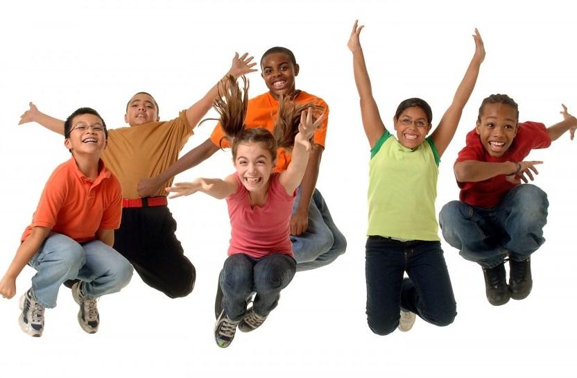 Jumping indian kids