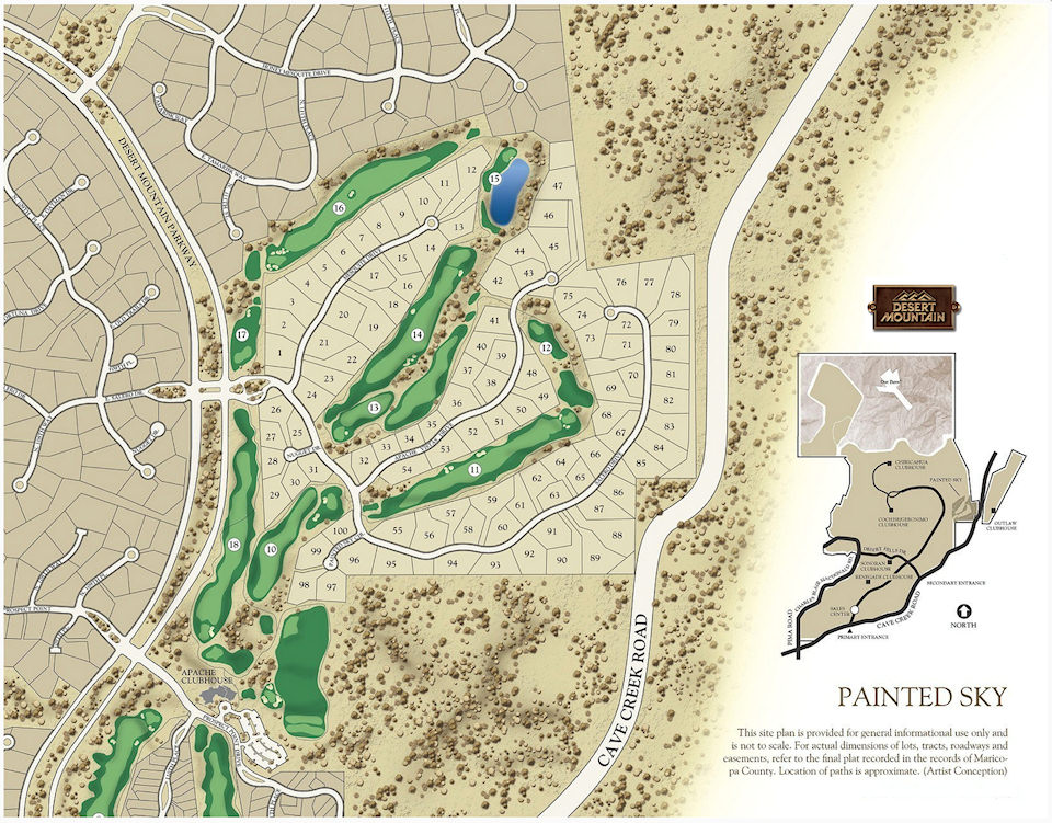 Painted Sky Map — Desert Mountain Homes on phuket golf map, scottsdale clubs map, scottsdale city limits map, scottsdale sightseeing map, scottsdale 16th hole, scottsdale mountain, old scottsdale area map, scottsdale private golf clubs, phoenician golf course map, scottsdale sports complex map, scottsdale bike paths map, gilbert az area map, scottsdale airport map, scottsdale silverado golf course, scottsdale road map, troon north golf course map, estancia scottsdale map, scottsdale resort map,