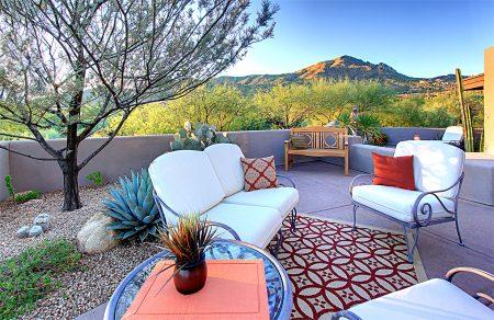 Desert Mountain Patio View